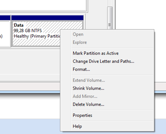 Manage drive letters